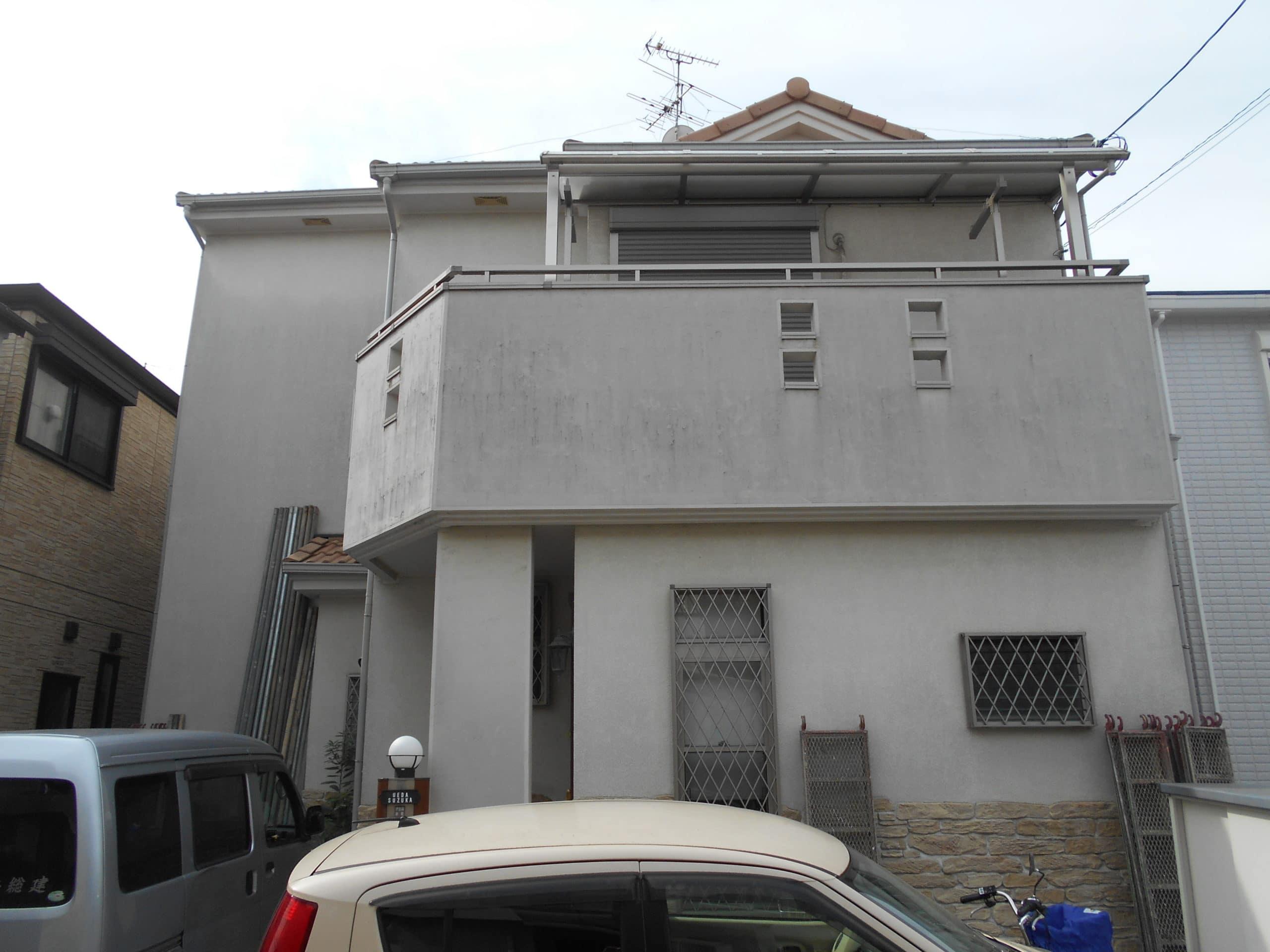枚方市 U様邸(2階建) 外壁塗装 施工前