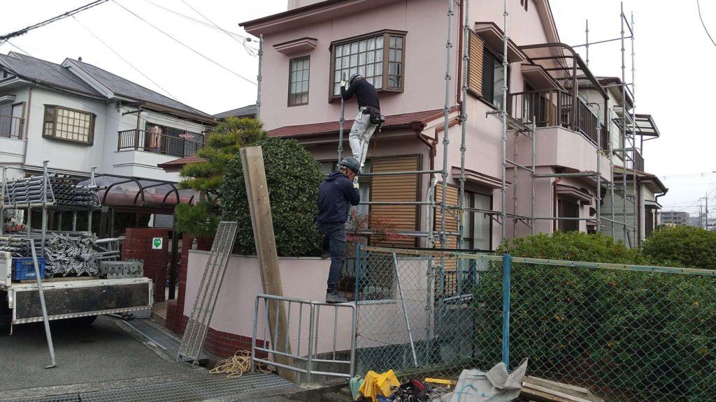 箕面市外壁塗装屋根塗装施工前