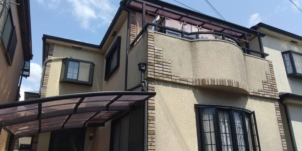 摂津市千里丘外壁塗装屋根塗装施工前